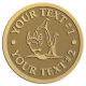 Ace Recognition Gold Coin, Lapel, Plaque - with your text and logo - Sports, mascots, fish, sharks, high school, college, university