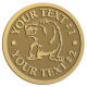 Ace Recognition Gold Coin, Lapel, Plaque - with your text and logo - Sports, mascots, bears, grizzlies, high school, college, university