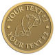 Ace Recognition Gold Coin, Lapel, Plaque - with your text and logo - Sports, mascots, gorillas,primates, high school, college, university