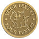 Ace Recognition Gold Coin, Lapel, Plaque - with your text and logo - Sports, mascots, cats, felines, high school, college, university