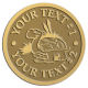 Ace Recognition Gold Coin, Lapel, Plaque - with your text and logo - Sports, mascots, turtles, amphibians, high school, college, university