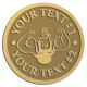 Ace Recognition Gold Coin, Lapel, Plaque - with your text and logo - Men, man, bodybuilding, body-building, weightlifting