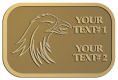Ace Recognition Gold Crest, Lapel - with your text and logo - Sports, mascots, birds, eagles, hawks, ospreys, birds of prey, predators