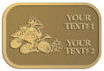 Ace Recognition Gold Crest, Lapel - with your text and logo - all terrain vehicles, atv, atvs, off road, off-road, 4-wheeler, atv, bike,drive, fast, four, machine, motocross, off-road, power, powerful, quad, race, red, ride, road, sky, sport, tires, tool, traction, trail, transport, transportation, wheel