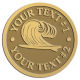 Ace Recognition Gold Coin, Lapel, Plaque - with your text and logo - waves, surfboard, surfing, surfers, surf, tropical, tropics, water, wind, boarding, dynamic, energy, sea, speed, splash, sport