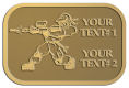 Ace Recognition Gold Crest, Lapel - with your text and logo - paint balls, paint guns, paint, paintball, paintballer, paintballing, fun, game, gun, hit, hobby, recreation, sports