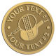 Ace Recognition Gold Coin, Lapel, Plaque - with your text and logo - ping pong, paddles, table tennis
