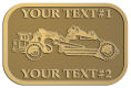 Ace Recognition Gold Crest, Lapel, Plaque - with your text and logo - road grader, mining equipment, grader, heavy equipment, earthmovers, earth movers