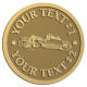 Ace Recognition Gold Coin, Lapel, Plaque - with your text and logo - road grader, mining equipment, grader, heavy equipment, earthmovers, earth movers