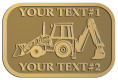 Ace Recognition Gold Crest, Lapel, Plaque - with your text and logo - front loaders, excavators, back hoes, backhoes, loaders, trenchers, excavators, excavating, equipment, diggers