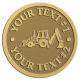 Ace Recognition Gold Coin, Lapel, Plaque - with your text and logo - front loaders, excavators, back hoes, backhoes, loaders, trenchers, excavators, excavating, equipment, diggers