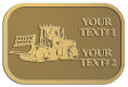 Ace Recognition Gold Crest, Lapel, Plaque - with your text and logo - bulldozers, machinery, equipment, heavy