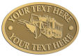Ace Recognition Gold Crest, Lapel, Plaque - with your text and logo - snow plows, plows, snow removal, road equipment, heavy equipment