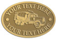 Ace Recognition Gold Crest, Lapel, Plaque - with your text and logo - cement truck, concrete, construction, heavy equipment, road construction, home renovation