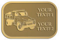 Ace Recognition Gold Crest, Lapel, Plaque - with your text and logo - dump truck, road construction, machinery, heavy equipment, transportation