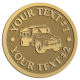 Ace Recognition Gold Coin, Lapel, Plaque - with your text and logo - dump truck, road construction, machinery, heavy equipment, transportation