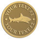Ace Recognition Gold Coin, Lapel, Plaque - with your text and logo - shark, sharks, reef, sea, , underwater, water, whaler, white, white-pointer, whitepointer, whiteshark, amblyrhynchos, aqua, aquarium, carcharhinus, , fish, great, grey, jaws, marine, melanopterus, ocean