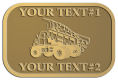 Ace Recognition Gold Crest, Lapel, Plaque - with your text and logo - dump trucks, standard dump trucks, trucks, construction vehicles, dumper, tip trucks, tipper lorry, tipper trucks, tippers, tipper lorries, transportation