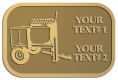 Ace Recognition Gold Crest, Lapel, Plaque - with your text and logo - cement mixers, concrete mixers, masonry mixers, concrete, mortar