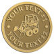 Ace Recognition Gold Coin, Lapel, Plaque - with your text and logo - bucket front loaders, wheel loaders, machinery , loaders, excavators, bulldozers