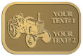 Ace Recognition Gold Crest, Lapel, Plaque - with your text and logo - tractors, farm equipment, farm machinery, farm machines, field implements, farm implements
