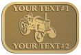 Ace Recognition Gold Crest, Lapel, Plaque - with your text and logo - tractors, farm equipment, farm machinery, farm machines, field implements, farm implements