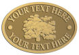 Ace Recognition Gold Crest, Lapel, Plaque - with your text and logo - forestry, logging, trees, gardening, horticulture, horticultural, landscaping, landscapers, conservation, ecology, environment