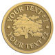 Ace Recognition Gold Coin, Lapel, Plaque - with your text and logo - forestry, logging, trees, gardening, horticulture, horticultural, landscaping, landscapers, conservation, ecology, environment
