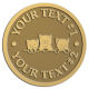 Ace Recognition Gold Coin, Lapel, Plaque - with your text and logo - cats, kittens, felines, pets