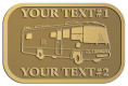 Ace Recognition Gold Crest, Lapel, Plaque - with your text and logo - RV, RVs, Recreational Vehicles, Motorhomes, motors, motor-homes, motorhomes, recreation, recreational, retire, retirement, tours, trailers, transportation, travel, travelers, trips, trucks, vacations, vans, vehicles, voyages, wheels