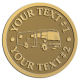 Ace Recognition Gold Coin, Lapel, Plaque - with your text and logo - RV, RVs, Recreational Vehicles, Motorhomes, motors, motor-homes, motorhomes, recreation, recreational, retire, retirement, tours, trailers, transportation, travel, travelers, trips, trucks, vacations, vans, vehicles, voyages, wheels