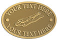 Ace Recognition Gold Crest, Lapel, Plaque - with your text and logo - locking pliers, tools, hand tools, industrial tools, pliers