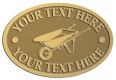 Ace Recognition Gold Crest, Lapel, Plaque - with your text and logo - wheelbarrows, wheel barrows, garden carts