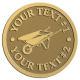 Ace Recognition Gold Coin, Lapel, Plaque - with your text and logo - wheelbarrows, wheel barrows, garden carts
