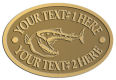 Ace Recognition Gold Crest, Lapel, Plaque - with your text and logo - Tattoos, fish