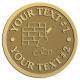 Ace Recognition Gold Coin, Lapel, Plaque - with your text and logo - chimney, masonry, bricklayers, bricklaying, brickmasons, blockmasons, stonemasons, brick trowels, bricks, chimneys, trowels