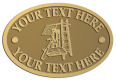 Ace Recognition Gold Crest, Lapel, Plaque - with your text and logo - roofing, roofers, ladders, shingles, hammers, contractors