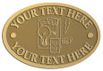 Ace Recognition Gold Crest, Lapel, Plaque - with your text and logo - electrical receptacle outlets, electricity, plugs, light bulbs, energy, electrical plugs, electrical