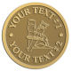 Ace Recognition Gold Coin, Lapel, Plaque - with your text and logo - home renovations, home remodelling, carpentry, levels, saws, woodworking, tools, trades, carpenters, tape measures, hammers