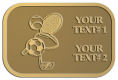 Ace Recognition Gold Crest, Lapel, Plaque - with your text and logo - .