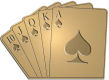 Ace Recognition Gold Crest, Lapel, Plaque - with your text and logo - Poker - royal flush - cards - spades  pocket, poker, queen,  risk, royal, spade, sport, success, table, aces, cards, casino, chance, club, cube, dice, entertainment, flush, full, gambling, games,