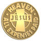 Ace Recognition Gold Coin, Lapel, Plaque - with your text and logo - Christian - Jesus - Heaven all expenses paid - cross - love - faith - religion  religious, metal