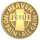 Ace Recognition Gold Coin, Lapel, Plaque - with your text and logo - Christian - Jesus - Heaven - no pain - no gain - cross - love - faith - religion  religious, metal