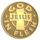 Ace Recognition Gold Coin, Lapel, Plaque - with your text and logo - Christian - Jesus - God in flesh - cross - love - faith - religion  religious, metal