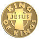 Ace Recognition Gold Coin, Lapel, Plaque - with your text and logo - Christian - Jesus - king of kings - cross - love - faith - religion  religious, metal