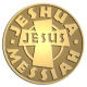 Ace Recognition Gold Coin, Lapel, Plaque - with your text and logo - Christian - Jesus - jeshua - messiah - cross - love - faith - religion  religious, metal