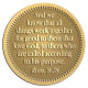 Ace Recognition Gold Coin, Lapel, Plaque - with your text and logo - Christian Designs - And we know that all things work together for good to them that love God, to them who are the called according to his purpose.  Romans 8:28, metal