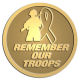 Ace Recognition Gold Coin, Lapel, Plaque - with your text and logo - Military - Remember our troops - soldier - ribbon, metal, navy