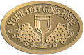 Ace Recognition Gold Crest, Lapel, Plaque - with your text and logo - Winery, sommelier, wine glasses, grapes, alcohol, beverages, celebrations, cellars, classical, corks, drinks, food, fruit, goblets, grapes, grapevines, restaurant, romantic, tavern, vintage, vine, wine tasting, wine-testers, wine testers