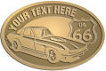 Ace Recognition Gold Crest, Lapel, Plaque - with your text and logo - Car designs - US route 66 - vintage cars - corvette - classic cars - sports car - your text, route 66, route sixty six, route sixty-six, historic highway, historic road, mother road, transportation